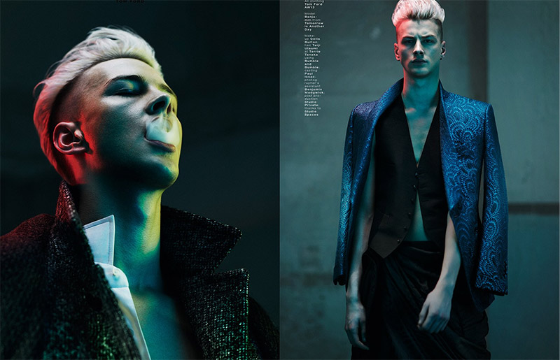 f889cc15cb Benjamin Jarvis lensed by Thomas Cooksey and outfitted by Christopher  Preston with pieces from Tom Ford