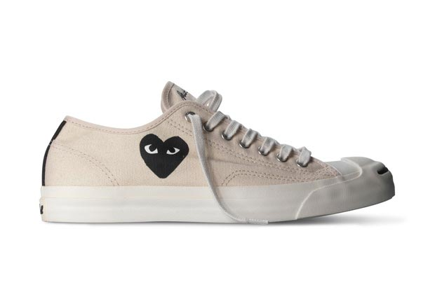 20e029022767 Converse and COMME des GARCONS PLAY have reunited to create this collection  that includes two black canvas and two natural canvas shoes