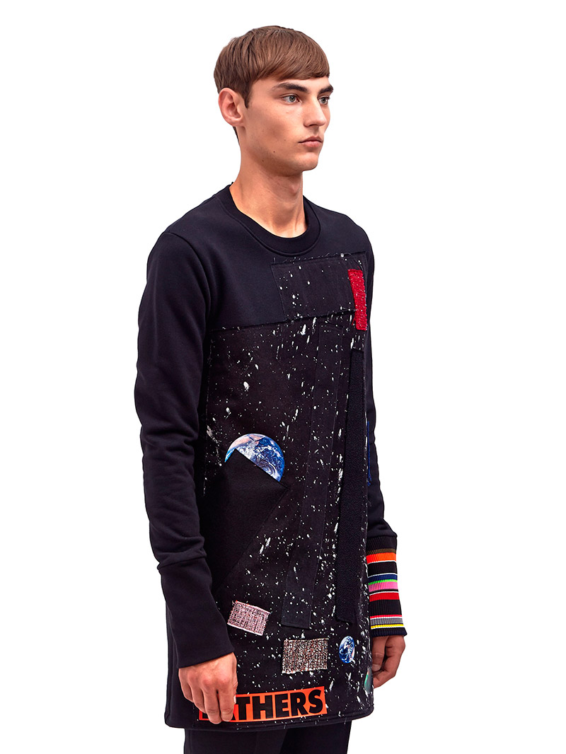 Raf Simons Sterling Ruby Long Sweatshirt With Patches
