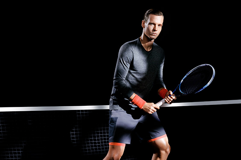 H&M's collaboration with tennis professional Tomáš Berdych is now in its second year. The spring/summer sportswear collection includes accessories such as tennis socks and a cap, as well as new styles of tennis shirts and shorts in breathable, fast-drying fabric.