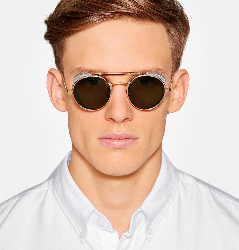 round sunglasses Thom Browne 77f91wapDS