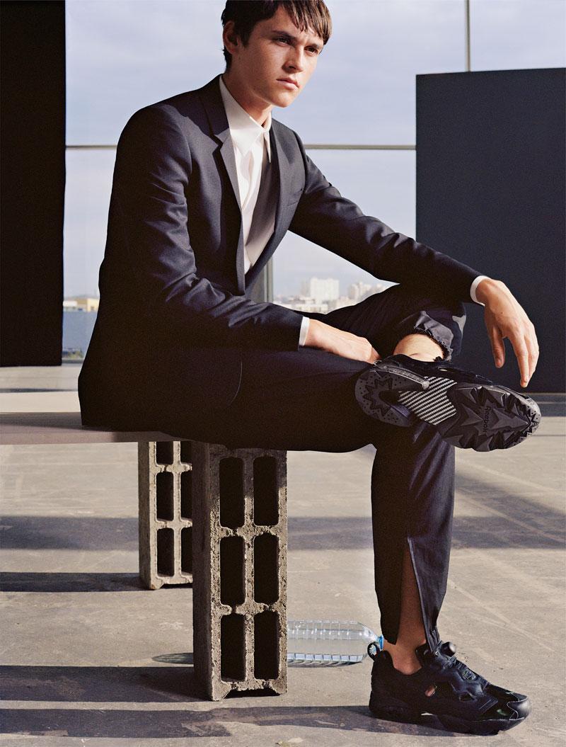 classic reebok high tops black for men