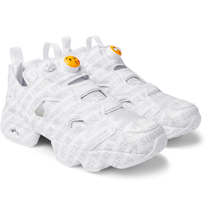 b4d2f9402f2ffc VETEMENTS + REEBOK. Logo Instapump Fury Sneakers - Fucking Young!