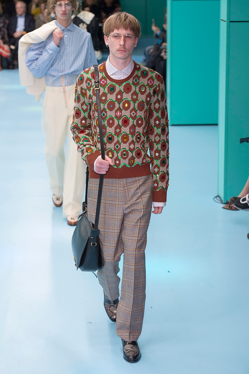 """055f4190e2d Alessandro Michele unveiled his Fall Winter 2018 """"CYBORG"""" collection for  Gucci"""