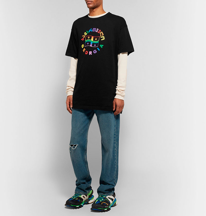 6c891948 VETEMENTS. Oversized Printed Cotton-Jersey T-Shirt - Fucking Young!